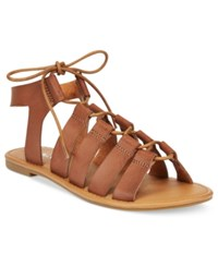 Wanted Ghillie Lace Up Gladiator Sandals Women's Shoes Tan