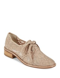 Adrianna Papell Paisley Floral Lace Oxfords Nude