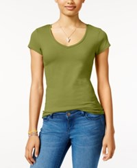 Energie Juniors' Mila V Neck Tee Burnt Olive