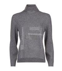 Christopher Kane High Neck Cashmere Sweater Female Light Grey