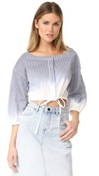 Milly Ombre Stripe Christie Top Navy