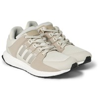 Adidas Originals Eqt Support Ultra Rubber Faux Suede And Mesh Sneakers Cream