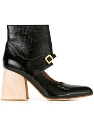 Marni Cut Out Ankle Boots Black