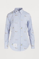 Thom Browne Embroidered Shirt Light Blue