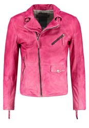 Freaky Nation Kong Leather Jacket Pink