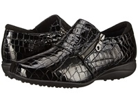 Helle Comfort Sanas Black Croco Women's Shoes