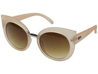 Quay Australia Dream Of Me Beige Brown Lens Fashion Sunglasses White
