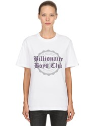 Bbc Billionaire Boys Club College Flocked Cotton Jersey T Shirt White