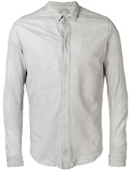 Giorgio Brato Long Sleeve Fitted Shirt Grey