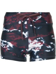 The Upside Printed Track Shorts Blue