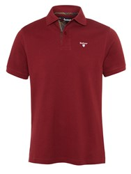 Barbour Tartan Pique Polo Shirt Ruby