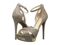 Jessica Simpson Wendah Gold Sparkle Mesh Women's Shoes
