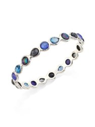 Ippolita Rock Candy Eclipse Mixed Stone And Sterling Silver Bangle Bracelet Silver Blue