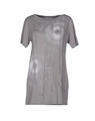 D.Exterior Topwear T Shirts Women Grey