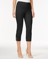 Jm Collection Cropped Straight Leg Pants Only At Macy's Deep Black