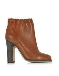 See By Chloe Jane Rust Leather Ankle Boot