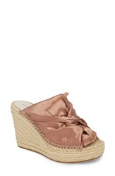 Kenneth Cole New York Odele Espadrille Wedge Blush Satin