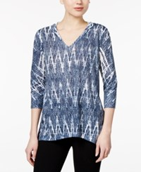 Styleandco. Style Co. Sublimated Print Hoodie Only At Macy's Blue