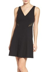 Ali And Jay Women's Ponte Fit Flare Dress Black