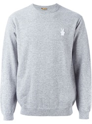 Peter Jensen Bunny Patch Sweater Grey