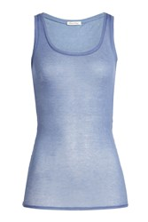 American Vintage Cotton Tank Blue