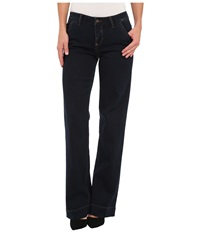 Liverpool Eleanor Trouser Stone Wash Women's Casual Pants Navy