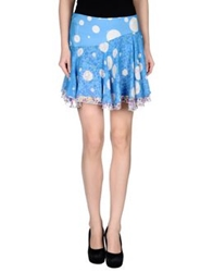 Versus Mini Skirts Sky Blue
