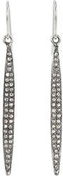 Feathered Soul Women's Pave Diamond And Sterling Silver Short Wand Earrings No Color