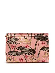 Loewe X Paula's Ibiza T Floral Print Canvas Pouch Pink Multi