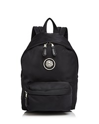 Versus By Versace Lion's Head Small Nylon Backpack Black Silver