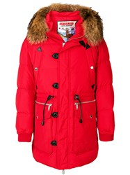 Dsquared2 Fur Trimmed Parka Feather Down Polyamide Polyester