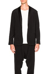 Baja East Satin Back Crepe Jacket In Black