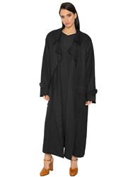 Jil Sander Oversized Light Shantung Trench Coat