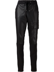 Kaufmanfranco Panelled Tapered Trousers Black