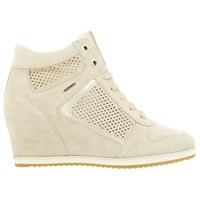 Geox Illusion Hidden Wedge Trainers Taupe Light Gold