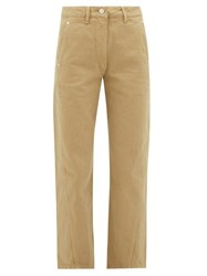Christophe Lemaire High Rise Denim Trousers Camel