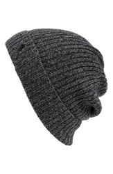 Men's Polo Ralph Lauren Cashmere And Wool Rib Knit Beanie Grey Salt And Pepper