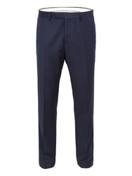 Paul Costelloe Burrell Basketweave Wool Slim Fit Suit Trousers Navy