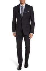 Nordstrom Men's Men's Shop Trim Fit Stripe Wool Suit Navy