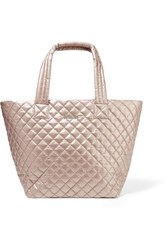 M Z Wallace Mz Metro Medium Quilted Metallic Shell Tote Pink