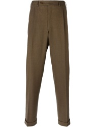 Canali Tailored Trousers Brown