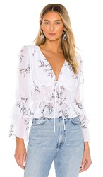 The Jetset Diaries Maia Top In White. White Floral