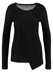 United Colors Of Benetton Long Sleeved Top Black