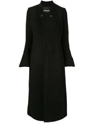 Aganovich Flared Sleeve Coat Black