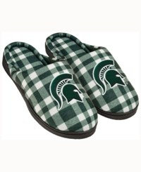 Forever Collectibles Michigan State Spartans Flannel Slide Slippers Green