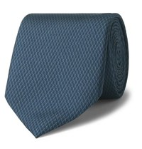Dunhill 8Cm Printed Mulberry Silk Tie Petrol