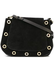 L'autre Chose Eyelets Detailing Shoulder Bag Black