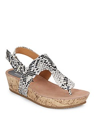 Ellen Tracy Inga Embossed Wedges Black White