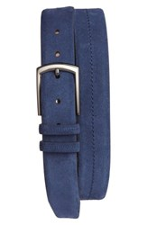 Mezlan Men's Fuji Suede Belt Blue