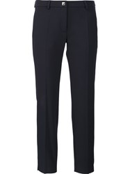 Versace Collection Tailored Cropped Trousers Blue